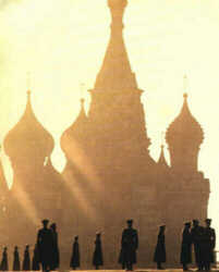 St. Basil early morning silhouette